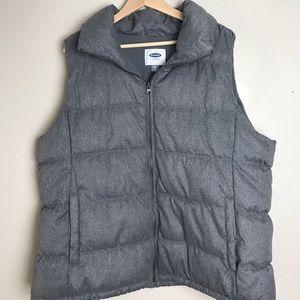 Gray puffer vest